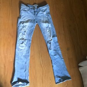 Bootleg Ripped Hollister Jeans - Size: 3R